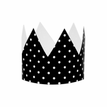 Black Polka Small DIY Crowns