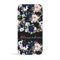 Calligraphic_Evening Garden Black PHONE CASE