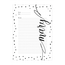 Black Dalmatian Personalized Planner