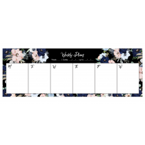 Black Evening Garden Desk Weekly Planner