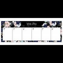 Black Evening Garden Desk Weekly Planner