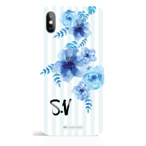 Blue Flower Monogram Phone Case