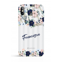 Bouquets Grey Stripes Evening Garden PHONE CASE