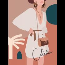 Celestia Modern Art Notebook |  Agenda