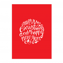 Christmas Words Greeting Card