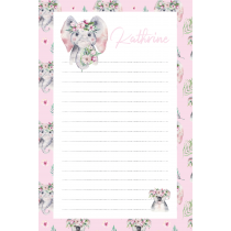 Cute Friends Elephant Koala Pink Pattern Noatepad