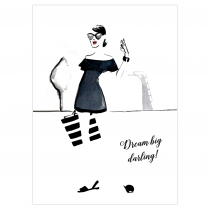 Dream Big Darling Folded Greeting Card | Virginia Romo