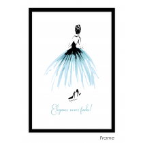 Elegance never fades Art Print | Virginia Romo