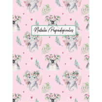 Cute Friends Koala Elephant Pink Pattern