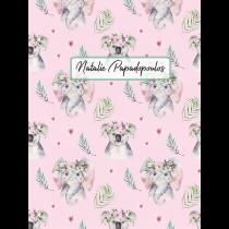 Cute Friends Koala Elephant Pink Pattern