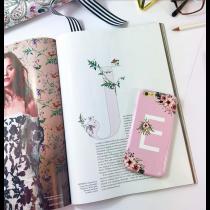 British Garden Monogrammed Pink iPhone 6/6S
