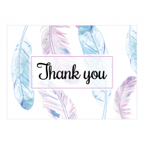 Boho Feathers Premium Thank you Cards