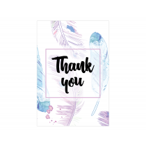 Boho Feathers Thank you Cards