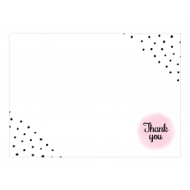 Polka Hearts Premium Thank you Cards