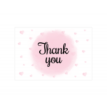 Hearts & Polkas Thank you Cards