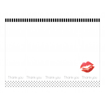Red Lips Premium Thank you Cards