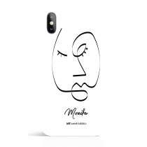 Black Line Face Art Phone Case