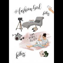 Blogger Girl Hashtang Name Social Media Agenda