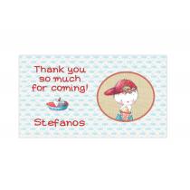 Boy Summertime Mini Thank You Cards