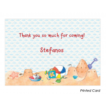 Boy Summertime Thank You Cards