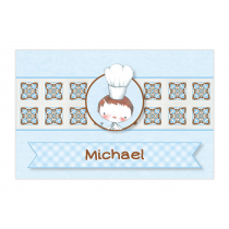 Little Boy Chef Bubble Labels