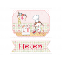 Little Girl Chef Personalized Sign