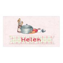 Little Girl Chef Envelope Sticker