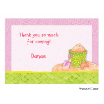 Girl Summertime Thank You Cards