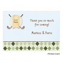 Golf Boy Twins Thank You Cards