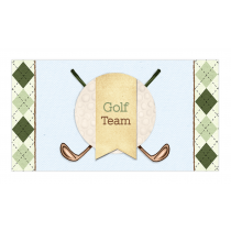 Golf Boy Twins Envelope Sticker