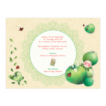Green Apple Invitation