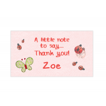 Lady Bug Mini Thank You Cards