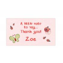 Lady Bug Mini Thank You Cards