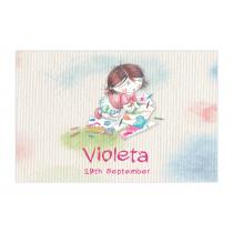 Art Studio for Girls Bubble Labels