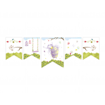 Purple Fairy Decor Banner