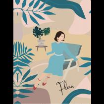 Fleur Modern Art Notebook |  Agenda