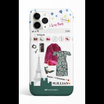 Floral Off Shoulder Dress Instagram I Love Paris Phone Case