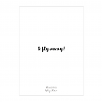 Fly Away Folded Greeting Card | Virginia Romo