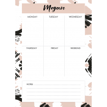 Free Art Megan Personalized Planner