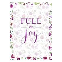 Full of Joy Folded Greeting Card