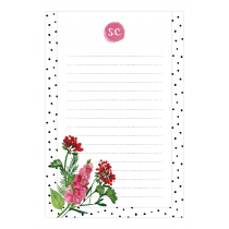 Geranium Personalized Notepad