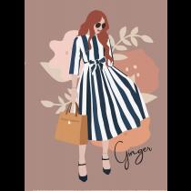 Ginger Modern Art Notebook |  Agenda