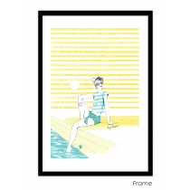 Girl in the Sun Art Print | Virginia Romo