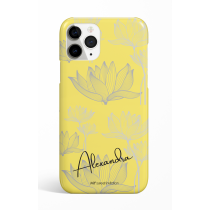 Yellow Gray Flower Personalized  Phone Case