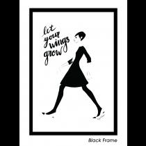 Grow Your Wings Art Print | Virginia Romo