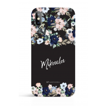 Hand Writting Personalized Black Evening Garden PHONE CASE