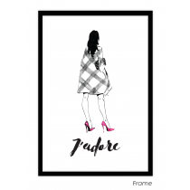 J'adore Art Print | Virginia Romo