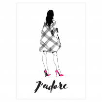J' adore Folded Greeting Card