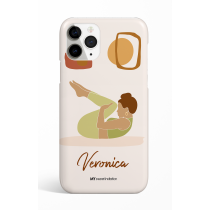 Knee to chest yoga Pose Personalized Phone Case