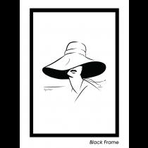 Lady in Hat Art Print | Virginia Romo